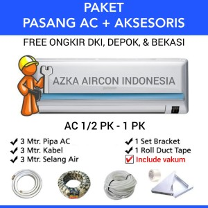 Harga paket pasang ac 3 mtr ac 1 2 pk 3 4 pk amp 1 pk daikin sharp lg   HARGALOKA.COM