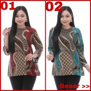 Harga blouse batik kemeja kantor wanita | HARGALOKA.COM