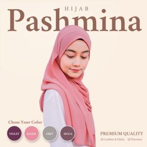 Harga hijab pashmina premium ceruty polos babydoll 70x175cm   | HARGALOKA.COM