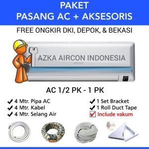 Harga paket pasang ac 4 mtr ac 1 2 pk 3 4 pk amp 1 pk daikin sharp lg   HARGALOKA.COM