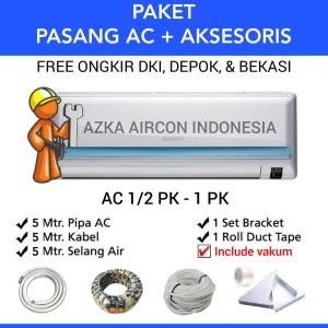 Harga paket pasang ac 5 mtr ac 1 2 pk 3 4 pk amp 1 pk daikin sharp lg   HARGALOKA.COM