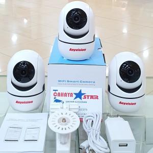 Harga kamera cctv ip wifi anyvision memory 64gb komplit tinggal | HARGALOKA.COM