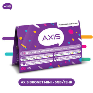 Harga kartu perdana paket axis bronet mini 5gb 15 | HARGALOKA.COM