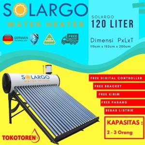Harga solar water heater swh solargo 120 liter garansi 5 tahun free | HARGALOKA.COM
