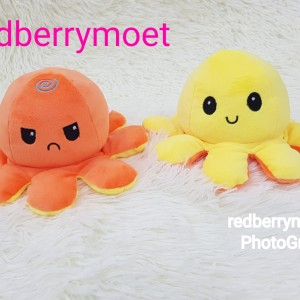 Harga boneka gurita mood bolak balik   orange | HARGALOKA.COM