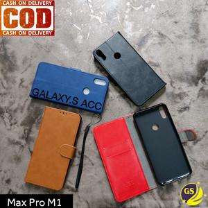 Harga leather flip cover wallet asus zenfone max pro m1 case casing     HARGALOKA.COM
