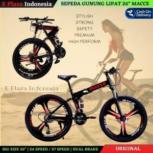 Harga sepeda gunung lipat mtb volding bike 26 merek macce velg resing   | HARGALOKA.COM