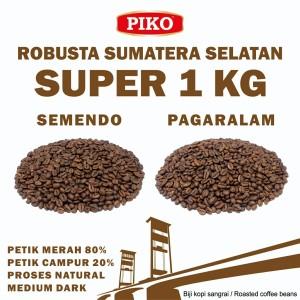Harga kopi robusta sumatera selatan super 1 kg roasted biji kopi bubuk   pagar alam biji | HARGALOKA.COM