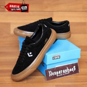 Harga sepatu converse cons louie lopez black sole gum import premium bnib   black gum | HARGALOKA.COM