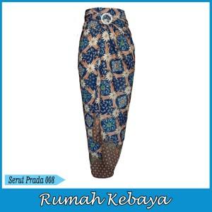Harga rok bawahan batik print wanita lilit halus serut prada 008   | HARGALOKA.COM