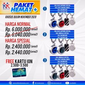 Harga buy 1 get 2 kalung kk liforce anti radiasi free kartu ion kk | HARGALOKA.COM