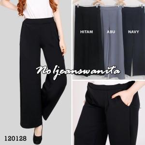 Harga celana kulot jeans denim panjang wanita celana kulot muslim wanita   | HARGALOKA.COM