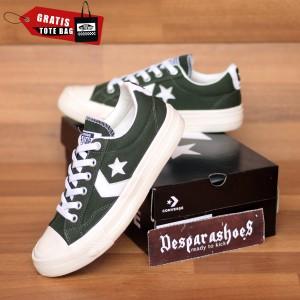 Harga sepatu converse all star cons star player hijau army import premium   hijau | HARGALOKA.COM