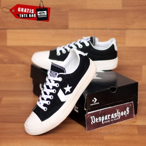 Harga sepatu converse cons star player black import premium free totebag   hitam | HARGALOKA.COM