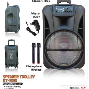 Harga speaker portable dat dt1535  15 inch | HARGALOKA.COM