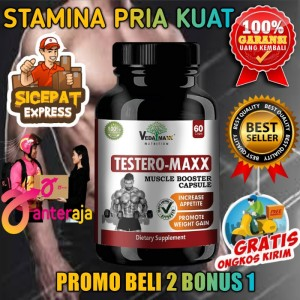 Harga suplemen fitness sehat testero maxx muscle   HARGALOKA.COM