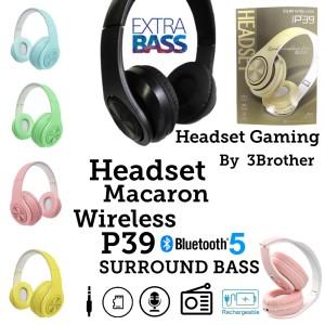Harga hf headphone headset bando macaron bluetooth v 5 0 p39 surround | HARGALOKA.COM