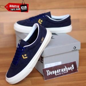 Harga sepatu converse cons louie lopez navy gold import premium bnib   navy gold | HARGALOKA.COM
