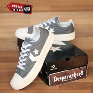 Harga sepatu converse cons star player grey import premium free totebag   abu abu | HARGALOKA.COM