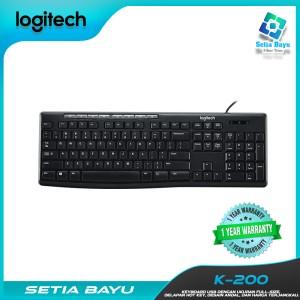 Harga logitech k200 wired keyboard cable usb komputer laptop | HARGALOKA.COM
