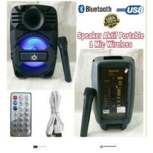 Harga speaker aktif portable crimson 8 inch mic | HARGALOKA.COM