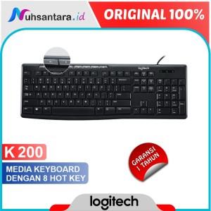 Harga keyboard logitech k200 usb multimedia keyboard original garansi | HARGALOKA.COM