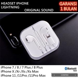 Harga headset iphone 7 8 plus x xs 11 earphone handsfree original sound   bt   HARGALOKA.COM