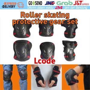 Harga 6 pcs deker lutut motor roda sepeda siku tangan pelindung anak dewasa   | HARGALOKA.COM