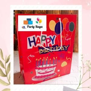 Harga paper bag happy birthday souvenir ulang tahun tas | HARGALOKA.COM