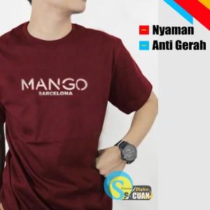 Harga kaos pria baju kaos pria warna marron bahan catton premium catton   | HARGALOKA.COM