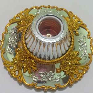 Harga mangkok lampu plafon bagus kombinasi silver amp gold   HARGALOKA.COM
