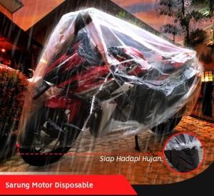 Harga cover motor sarung motor plastik disposable cbr150 r15 v2 v3 | HARGALOKA.COM