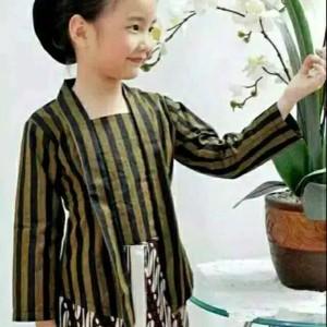 Harga setelan baju adat jawa cewek baju surjan lurik anak putri   | HARGALOKA.COM