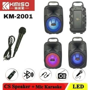 Harga speaker bluetooh kimiso 2006 mic karaoke lampu led phone standing   | HARGALOKA.COM