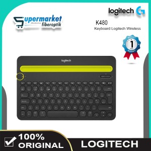 Harga logitech k480 keyboard wireless multi device keyboard laptop | HARGALOKA.COM