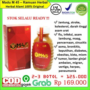 Harga madu m 45 herbal terapi jantung kolesterol darah tinggi diabet   HARGALOKA.COM