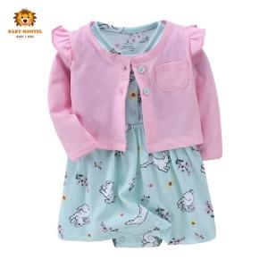 Harga babymontel   baby cardigan dress motif rabbit 2pcs     HARGALOKA.COM