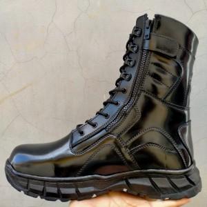 Harga sepatu safety pdl hitam kilap tni polri satpam sepatu caraba dragonfly   44 | HARGALOKA.COM