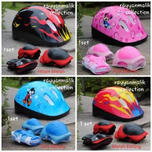Harga helm sepeda anak dan pelindung siku skateboard   minnie | HARGALOKA.COM