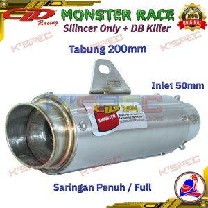 Harga cld exhaust monster race series 200 mm silincer only knalpot | HARGALOKA.COM
