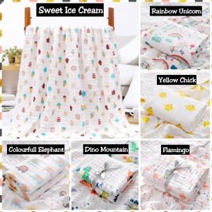 Harga kain muslin selimut bayi handuk bedongan bayi matras alas tidur bayi   ice   HARGALOKA.COM