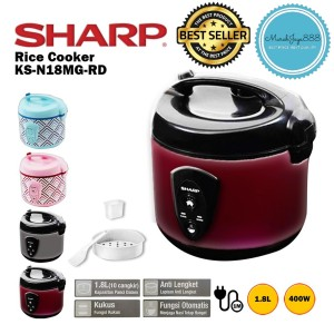 Harga rice cooker magic com sharp ks n18mg penanak nasi kapasitas 1 8 liter   merah no | HARGALOKA.COM