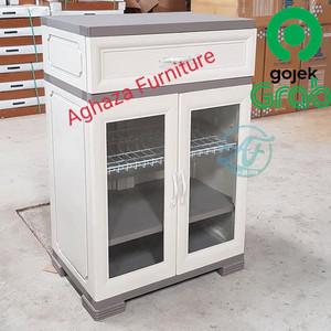 Harga rak piring plastik lemari piring kitchenset okl | HARGALOKA.COM