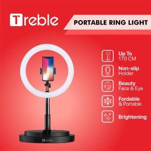 Harga treble js portable tripod selfie ring light led phone holder   trl01   merah   HARGALOKA.COM