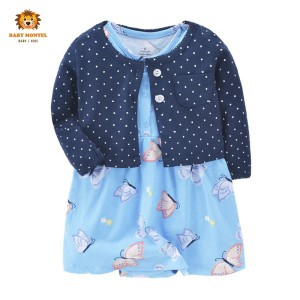 Harga babymontel   baby cardigan dress motif butterfly 2pcs     HARGALOKA.COM