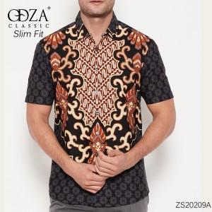Harga kemeja batik lengan pendek solo pria hem modern slim fit jogja fashion   | HARGALOKA.COM