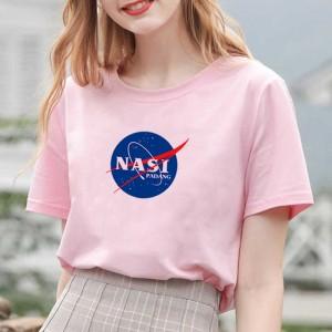 Harga baju wanita kekinian kaos cewek murah nasa baju nasi padang plesetan   merah muda   HARGALOKA.COM