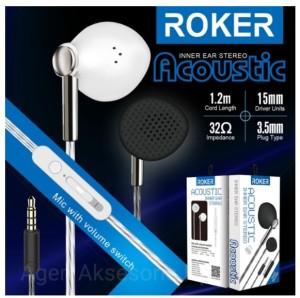 Harga handsfree roker acoustic headset roker acoustic rk29k | HARGALOKA.COM