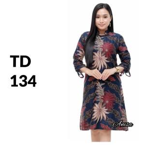 Harga tunik atasan batik solo batik kantor baju batik wanita td 134   | HARGALOKA.COM