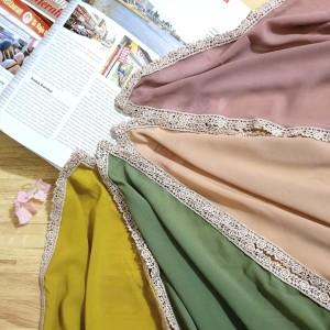 Harga jilbab hijab segiempat renda mega dya kerudung nabilah | HARGALOKA.COM